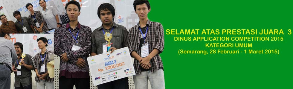 Dinus Application Competition 2015 (28 Februari – 1 Maret 2015, Universitas Dian Nuswantoro – Semarang)
