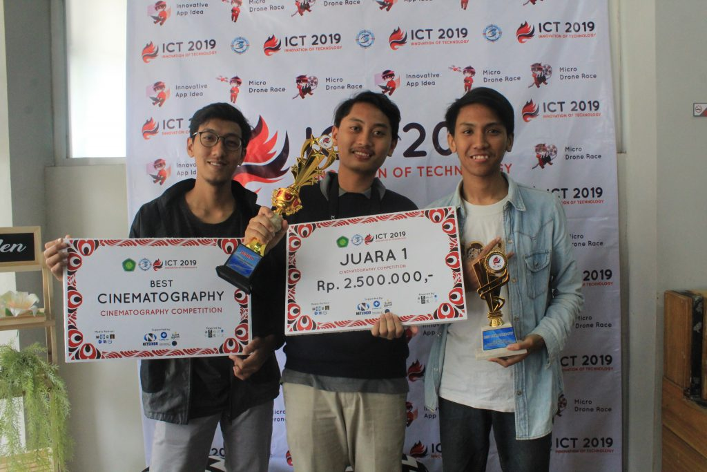 The winner of Cinematography Competition at Gebyar ICT 2019